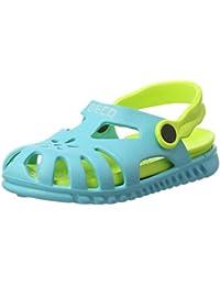 BECO Kinder Sandale, Sandalias de Talón Abierto Unisex Niños, Azul (Blau 6), 24 EU