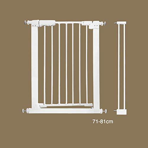 Barrière pour Animaux/Garde-Corps, barrière en Plastique ABS de Haute qualité pour l'intérieur, à l'épreuve des Chiens, Blanche - (Hauteur 78 cm)