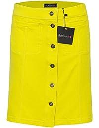 Shelikes Womens Mini Front Button Skirt UK 6-12