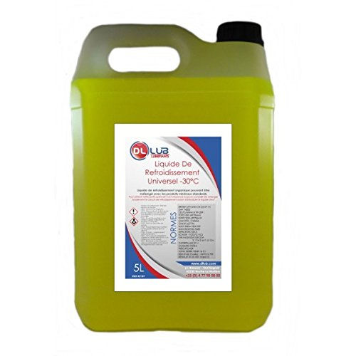 DLLUB - Liquide de refroidissement -30°C - 5 litres