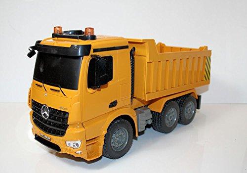 Unbekannt RC Kipplaster Mercedes-Benz AROCS 4WD Ferngesteuerter Lastwagen Muldenkipper Kippfunktion,Licht,Sound