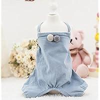 2c1199571f Haustier-Katze-Hundekleidung Frühling und Sommer Haustiere Baumwolle Bib Hosen  Katze Hundebekleidung Blau M
