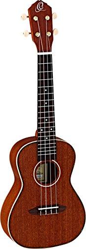 Ortega Guitars RU11 Konzert Ukulele vollmassiv natur im seidenmatten Finish mit hochwertigem Gigbag - Vintage Juwel Hals