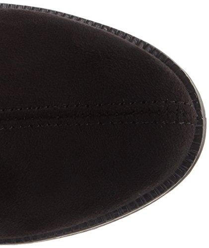 Bianco Damen Casual Overknee Stiefel Schwarz (Black)