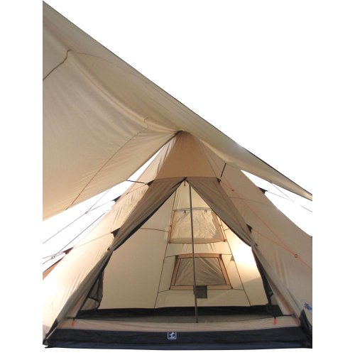 41KWVWGydeL. SS500  - 10T Outdoor Equipment Waterproof Shoshone Unisex Outdoor Teepee Tent available in Beige  - 8 Persons