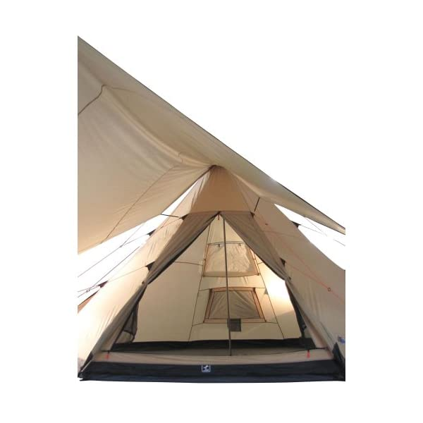 10T Outdoor Equipment Waterproof Shoshone Unisex Outdoor Teepee Tent available in Beige  - 8 Persons 12
