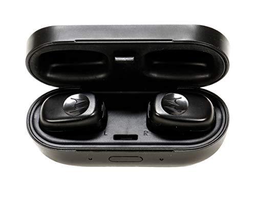 Motorola! In Ear Kopfhörer, Ohrstöpsel mit Mikrofon Headset, Bluetooth Kopfhörer wasserdicht, Kabellos, mit Ladeetui, Ear-Pads in 3 Größen, Sportohrbügel, Micro-USB-Ladekabel Motorola Bluetooth-mono-headset