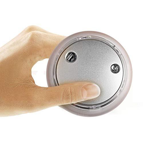 CampHiking Elektrischer Handwärmer mit mobiler Stromquelle und leuchtendem Multifunktionssystem - USB Powerbank Fußwärmer, Silber, 10 * 10 * 3cm/3.94 * 3.94 * 1.18in