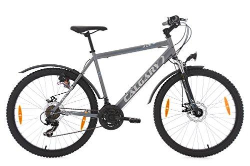 KS Cycling Uni Mountainbike Hardtail Atb Calgary Anthracite RH 51 cm Fahrrad, Anthrazit, 26