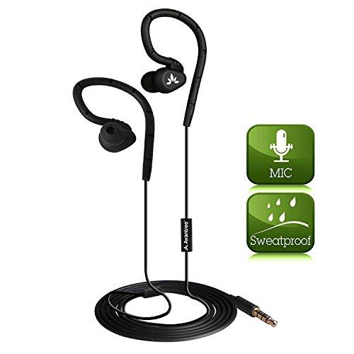 41KWWQk4sgL BEST BUY UK #1Avantree SPORTS Earphones In Ear Earbuds Noise Isolation with Microphone & Memory Earhook   Seahorse price Reviews uk