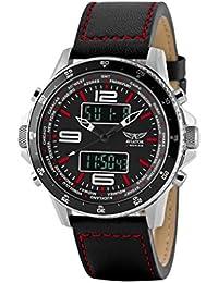 amazon co uk aviator watches aviator avw1931g253 ana digital watch for men black