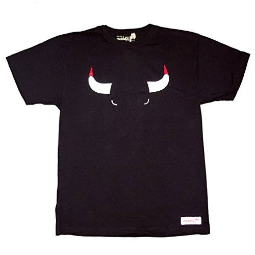Mitchell & Ness Shirt Chicago Bulls Elements Black M (Herren T-shirt Chicago)