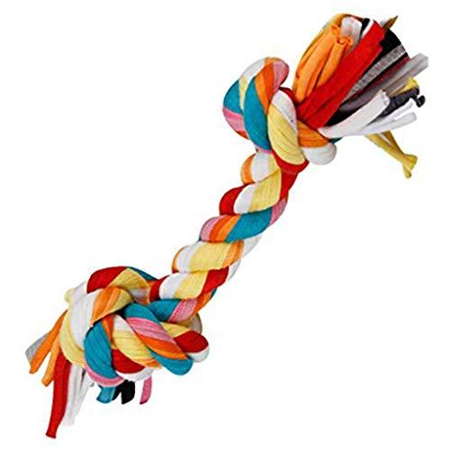 BoburyL Baumwolle Doppel-Knoten geflochtenen Seil Bunte Knochen Tug Hund Kauen Spielzeug Pet Woven Molar Zubehör -