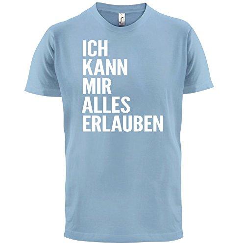 ICH KANN MIR ALLES ERLAUBEN - Herren T-Shirt - 13 Farben Himmelblau