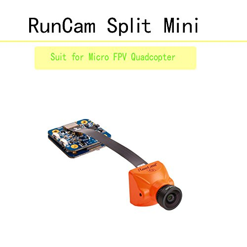 Runcam Split Mini 1080P/60Fps HD Recording WDR FPV Camera Low Latency DC 5 V 17 V NTSC PAL support 64G TF SD Card Protection Kit Compatible for FPV Quadcopter Drohnen