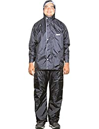 THE CLOWNFISH Sky One Opener Series Men's Polyester Double Layer Waterproof Raincoat with Hood and Reflector Logo at Back for Night Travelling. Set of Top and Bottom Packed in a Storage Bag
