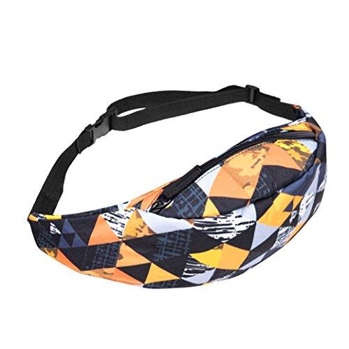 Lettera Running Cintura Marsupio Marsupio Fanny Pack Moda Sport Escursionismo Arancione