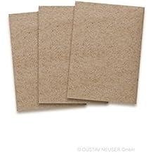 Schön Kraftpapier Karten In Braun | 25 Stück | Blanko Einladungs Karten Zum  Selbstgestalten U0026