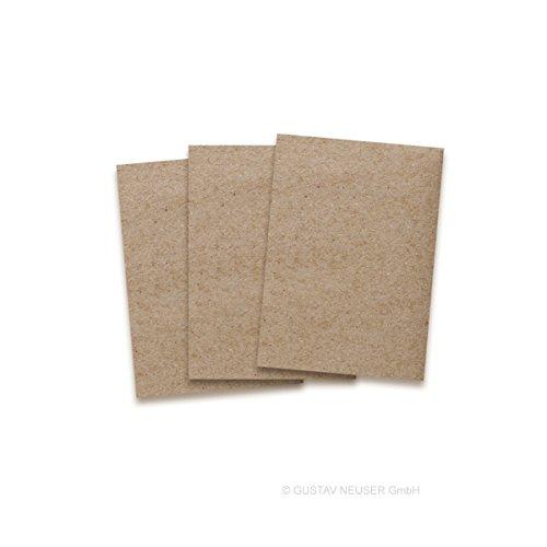 Kraftpapier-Karten in Braun   50 Stück   Blanko Einladungs-Karten zum Selbstgestalten & Basteln   bedruckbare Post-Karten in DIN A6 Format   exklusive Grußkarten für besondere Anlässe