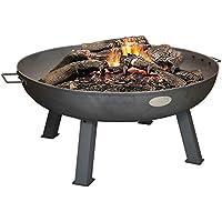 Harbour Housewares Large Cast Iron Garden Fire Pit Burner With Handles - 855mm Diameter