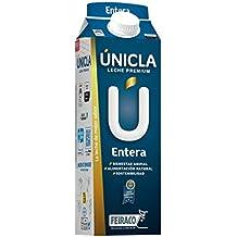 Únicla Leche UHT Entera - Paquete de 6 x 1000 ml - Total: 6000 ml