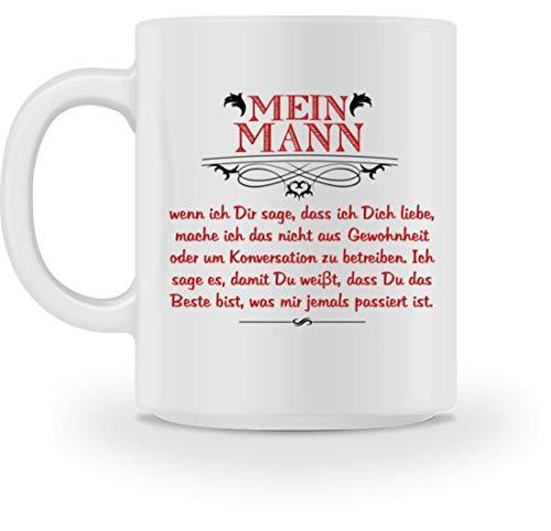 Mein Mann ist das Beste, was mir jemals passiert ist - Geschenk Frau Ehemann Hochzeits-Tag - Tasse -M-Weiß