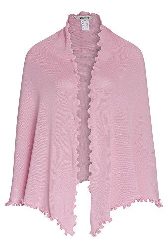 DISTLER Trachten-Tuch, Strickschal für Damen Trachten-Tuch,Strick-Tuch,Trachten-Poncho,Poncho, rosa,OneSize