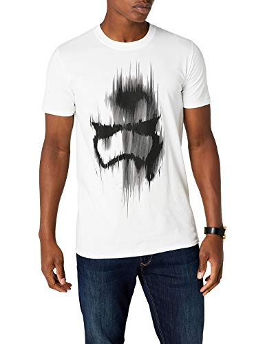 STAR WARS Trooper Mask Camiseta, Blanco, XL para Hombre