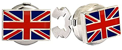 Button Covers with Union Jack (UK) Flag. A great pair of cufflinks or Tie Clip as shown in the image The perfect Gift for some one