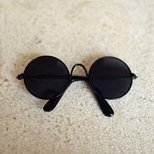 Seturrip - Pet Sonnenbrille Hund Augen-wear Katze Brille Little Dog Brille Fotos Props Hundekatzenzubehör Tierbedarf für kleine Hunde Artikel [Black Frame Schwarz]