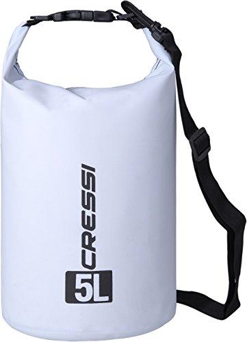 dry sac Cressi Dry Bag Wasserdichte Taschen mit langem verstellbaren Schulterriemen, Für Tauchen, Bootfahren, Kajak, Angeln, Rafting, Schwimmen, Camping und Snowboarden