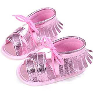 Vivitoch Kids Baby Girls Toddler Shoes First Walkers Soft Summer PU Breathable Hollow Infant Shoes 0-18 Month Anti-Slip Newborn Shoes