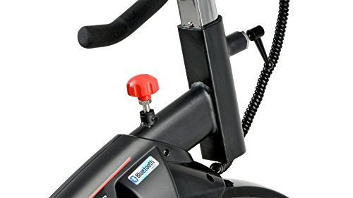 41KWappWf0L - Bh Fitness Unisex's i.Air Mag Spinning Bikes, Black/Red, Large
