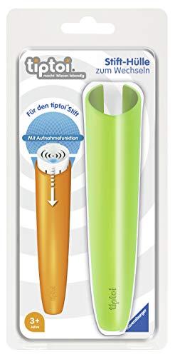 Ravensburger tiptoi Stifthülle, zum Wechseln in grün, Wechselhülle für den tiptoi Stift mit Aufnahmefunktion, Geeignet für Kinder ab 3 Jahren