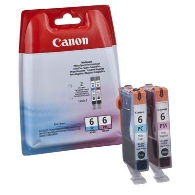 Canon BCI6 Pc/BCI6PM Tintenpatrone Multipack 6 -bci, Photo Cyan, Photo Magenta. Folie versiegelt (Canon Bci-6 Pc)