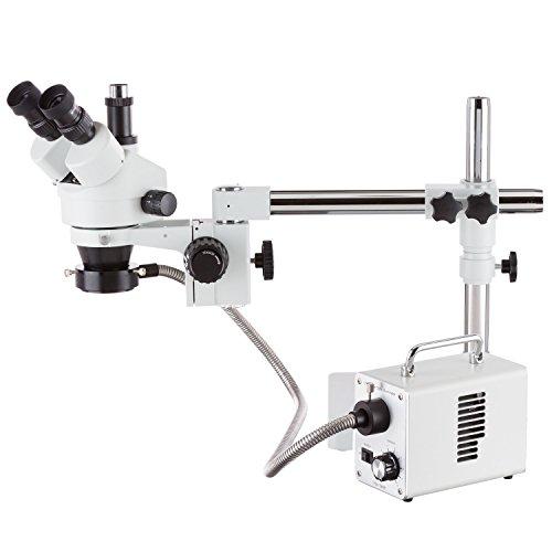 7x 114x Stereo-Mikroskop mit LED Lichtwellenleiter)-Ring Licht