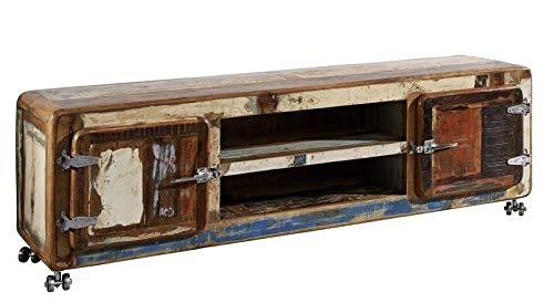 MASSIVMOEBEL24.DE Altholz massiv Möbel lackiert Industrial-Stil TV-Board Massivholz Eisen Massivmöbel Freezy #32 - Eisen Sideboard