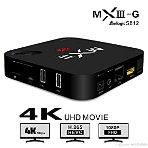 MXIII-G Gigabit Smart TV Box Amlogic S812 Quad Core CPU Octa Core Mali-450 GPU 2GB 16GB UHD 4K*2K Full HD 1080P H.265 Google Android 5.1 2.4/5G Dual Band Wifi Bluetooth 4.0 Network Media Player