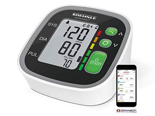 Soehnle Oberarm Blutdruckmessgerät Systo Monitor Connect 300 mit Bluetooth® & App-Anbindung, Blutdruckmesser mit Bewegungssensor, Blutdruck Messgerät (Oberarm-blutdruck-monitor)