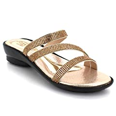 a8b5dce582 Womens Ladies Diamante Straps Open Toe Cushioned Casual Comfo .