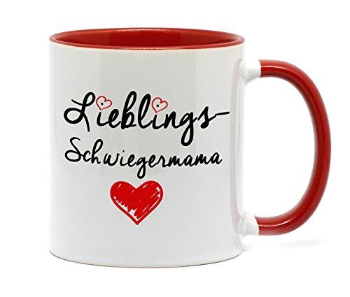 """Tasse """" Lieblings Schwiegermama """" Tasse in hochwertiger Qualität, beidseitig bedruckt. Die schönste Art wenn man etwas zu sagen hat. Ein tolles Geschenk für die Schwiegermutter z.B. als Dankeschön."""
