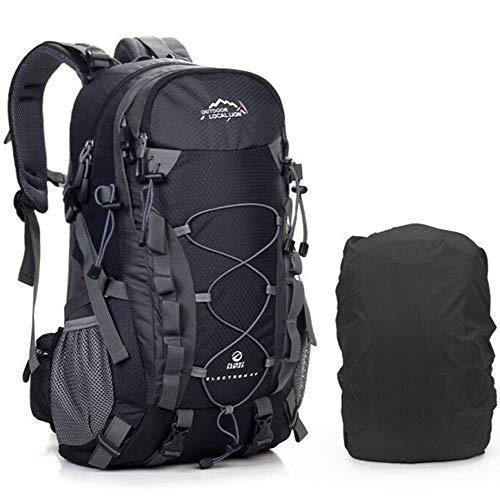 AM SeaBlue Outdoor Trekking Zaino - Multifunzione Water Resistant 40L Leggero Zaino da Escursione Zaino Grande capacità per Campeggio Viaggi Alpinismo Trekking Arrampicata Caccia Sci (Nero)