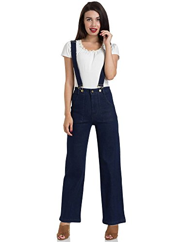 Voodoo Vixen Jeans Shelly Denim Jeans with Suspenders 4554 Blau M