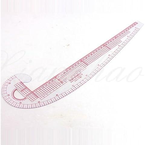RZDEAL 3 In 1, In plastica, curva metrica, per cucito-Righello da sarto per metro sarto, la riga di