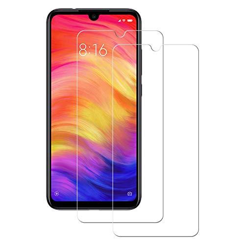 POOPHUNS 2 Stück Panzerglas Schutzfolie kompatibel mit Xiaomi redmi Note 7, Gehärtetes Glas Bildschirmschutzfolie mit 9H Härte, HD Ultra Klar, Anti-Kratzen, Anti-Öl, Bildschirmschutz Folie für redmi Note 7