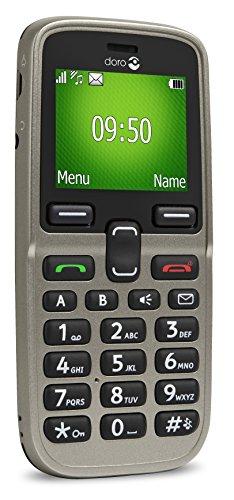 Doro 5030 Téléphone débloqué GSM (Ecran: 1,77 pouces - 1 Go - SIM) Champagne