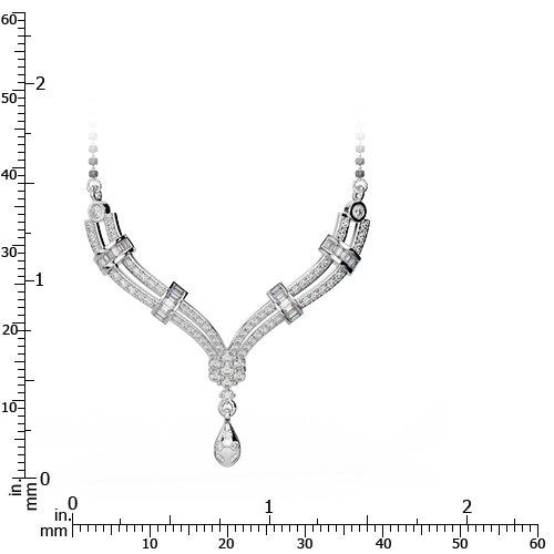 Or blanc/or jaune/Platinum-Collier Femme-diamant mangalsutra dtn-29-vsgh