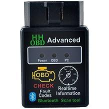 Stoga STO003 Mini OBD2 ELM327 V1.5 Bluetooth Car Scanner - Herramienta de Exploración Automática Par Auto Herramienta OBD-II Diagnóstico Diagnóstico del Código Tester (Mini Bluetooth)