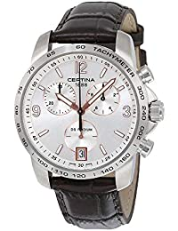 Certina – Reloj de pulsera para hombre XL Cronógrafo Cuarzo Piel ...