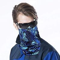 PRETYZOOM Cuello Bufanda Bufanda 3 Piezas Bufanda Elástica Cara Protección Ultravioleta Sombreros Defensa Multifuncional para Actividades Al Aire Libre (Azul)